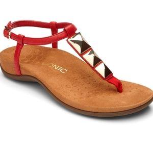 Vionic Orthotic Rest Nala Size 8 T-Strap Sandals